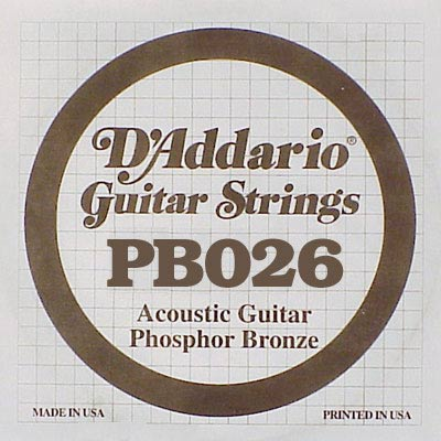 D'Addario Phosphor Bronze DPB-026