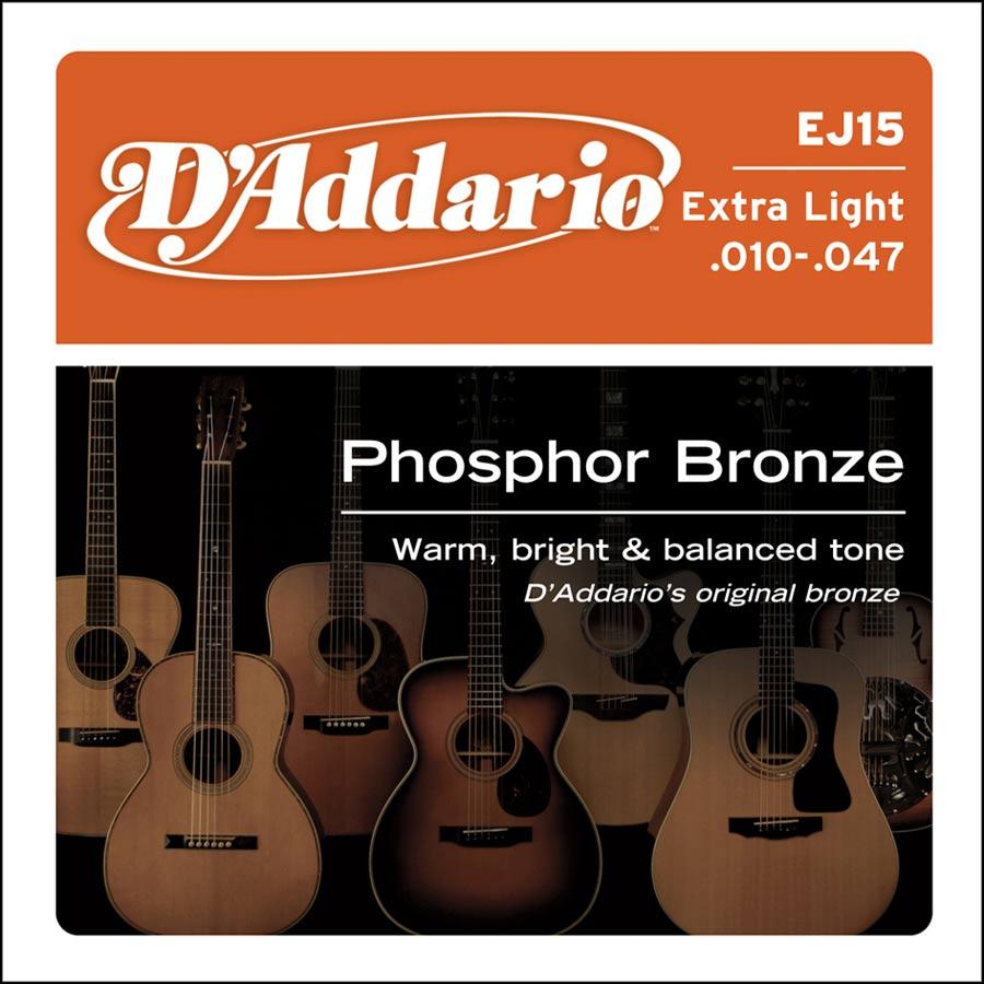 D'Addario Phosphor Bronze EJ-15