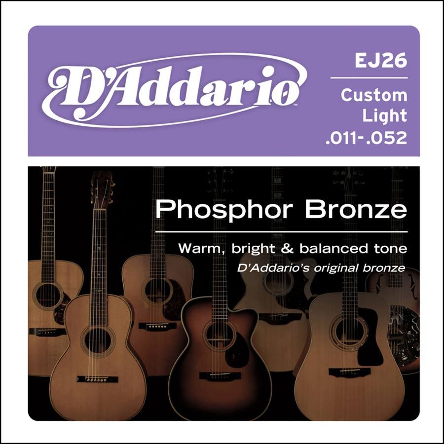 D'Addario Phosphor Bronze snarenset akoestisch