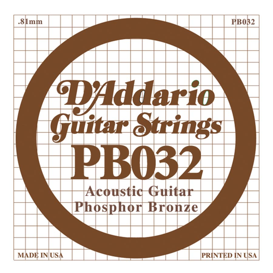 D'Addario Phosphor Bronze DPB-032