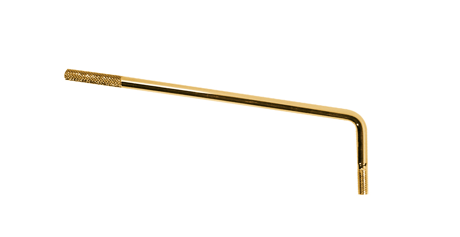 Tremolo arm  ribbed tip, gold.