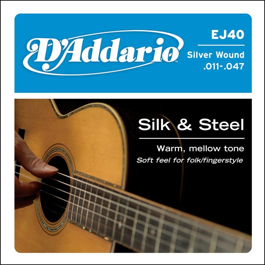 D'Addario Silk & Steel EJ-40