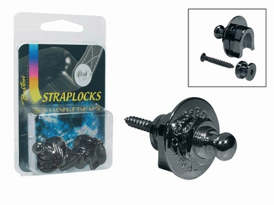 Straplocks, zwart chroom,