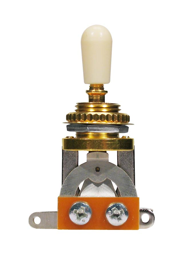 Boston toggle switch 3-way, with ivory plate and cap