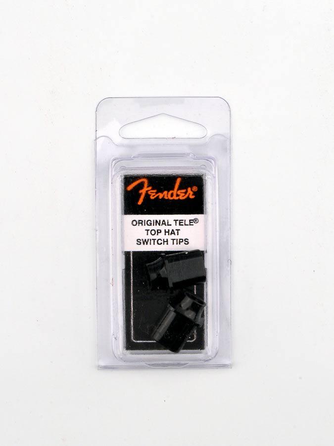 Fender switch tips Tele, 'top hat' model, black, (2 pcs