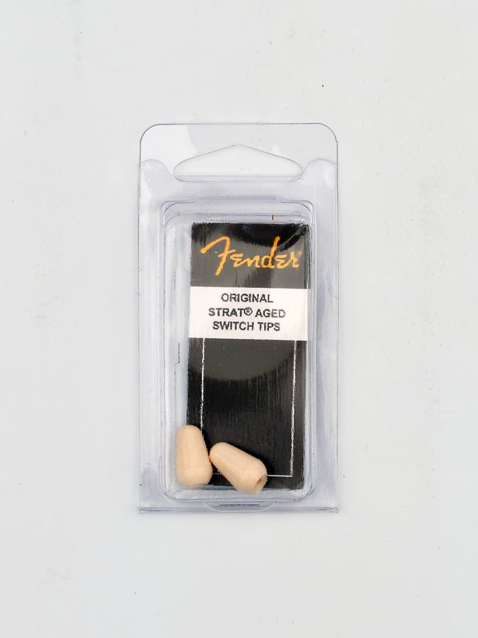 Fender switch tips Strat, 2 pcs, parchment