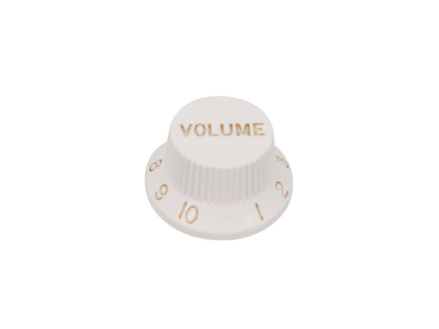 Boston bell knob, Stallion, for inch type pot shaft, white,
