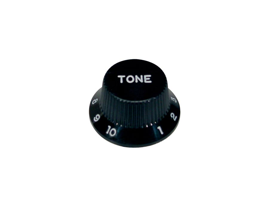 Boston bell knob, Stallion, for inch type pot shaft, black,