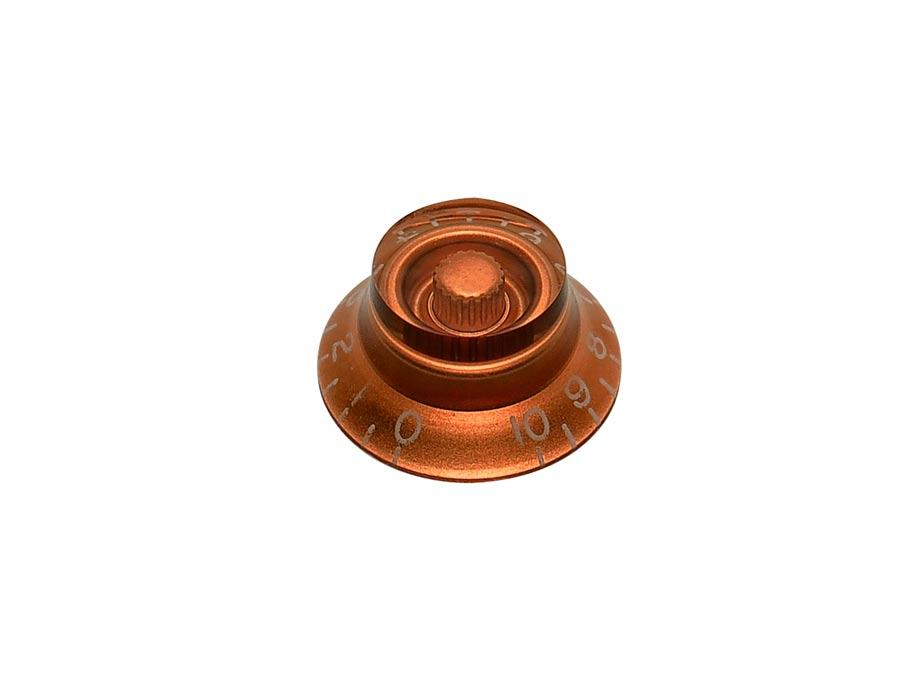 Boston bell knob, lefty, transparent amber