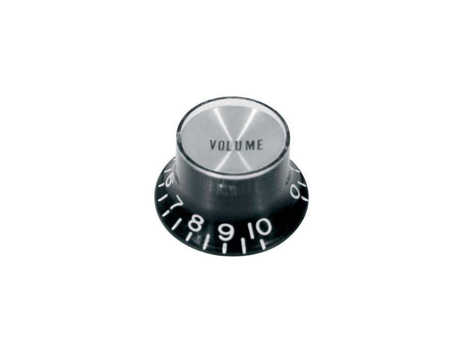 Boston bell knob SG model, for inch type pot shaft, black wi