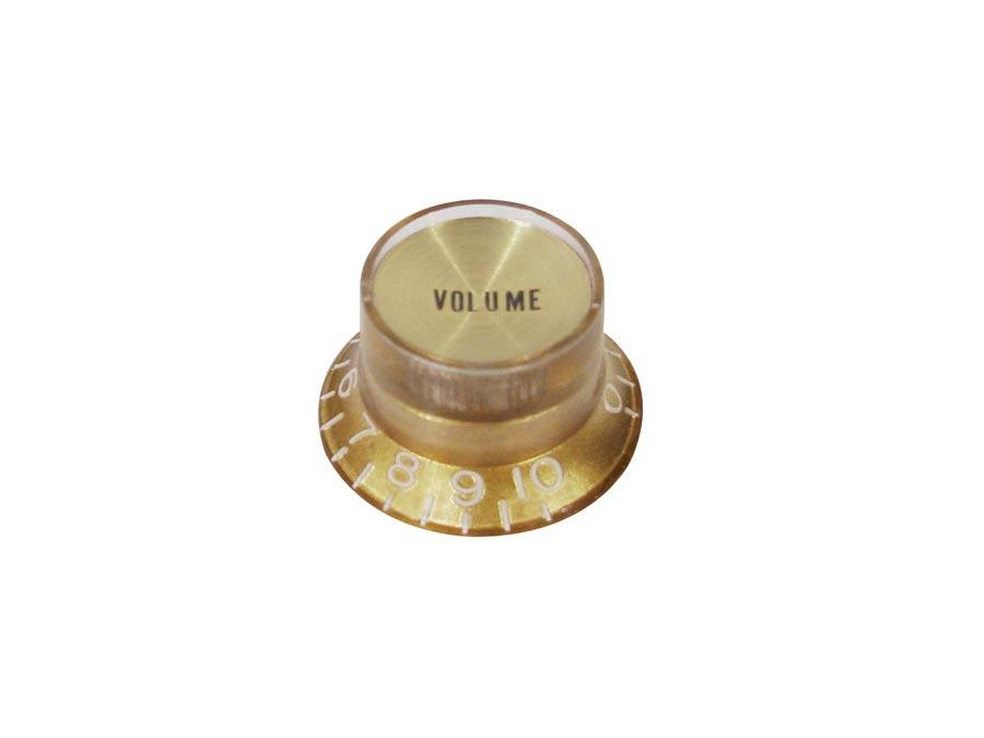Boston bell knob SG model, for inch type pot shaft, gold wit