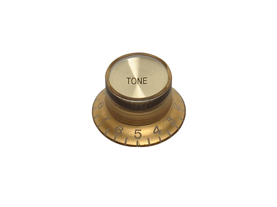 Boston bell knob SG model, lefty, gold with gold cap, tone