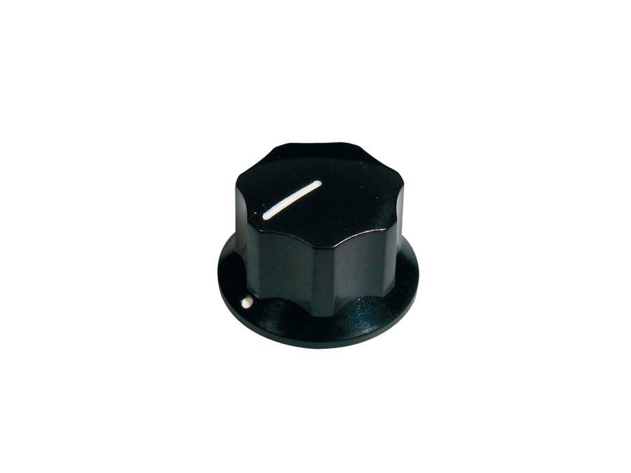 Boston knob, Jocker bass, black, with set screw, large