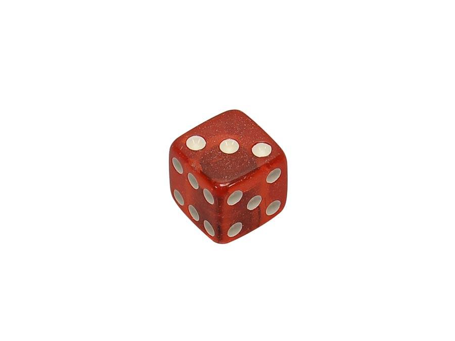 Boston dice knob, transparent red, small
