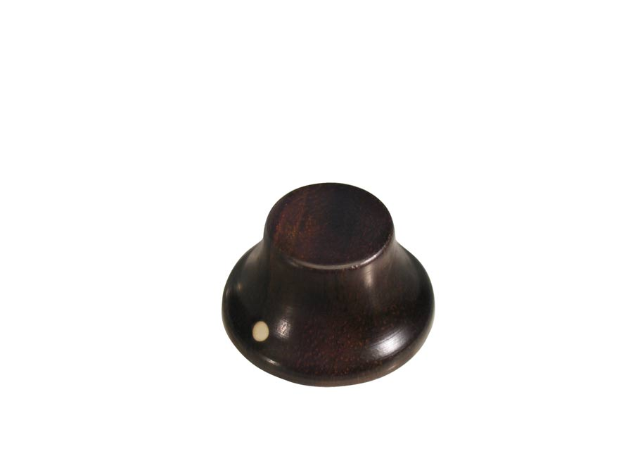 Boston bell knob, wood, Stallion, with pointer, 25x14mm, ebo
