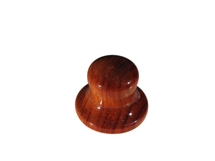 Boston bell knob, wood, hat model, 25x19mm, bubingga