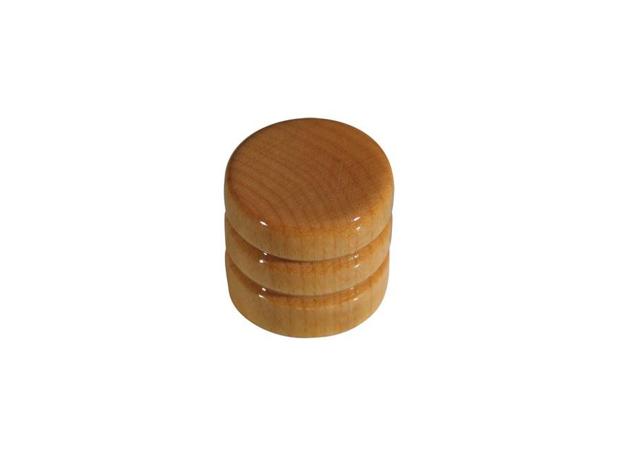 Boston dome knob, wood, 2 rings, 19x18mm, maple