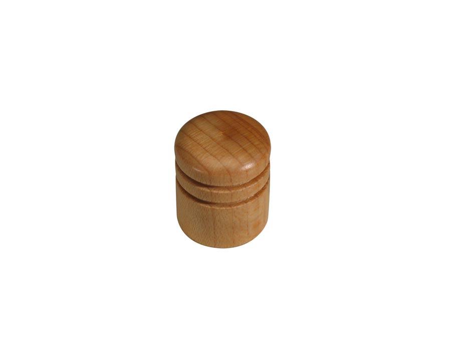 Boston dome knob, wood, 2 rings, 15x18mm, maple