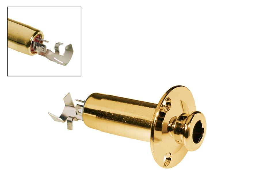 Boston endpin jack, solder 6,3mm fem jack, fixed jack plate,