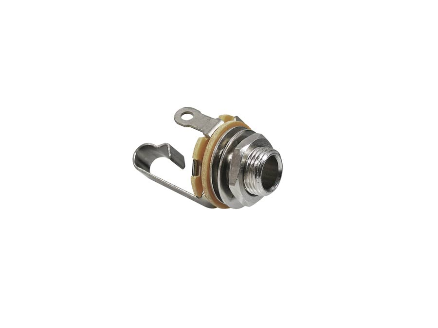 Switchcraft chassis connector jack, 2-pole, nickel, 6,3mm, .