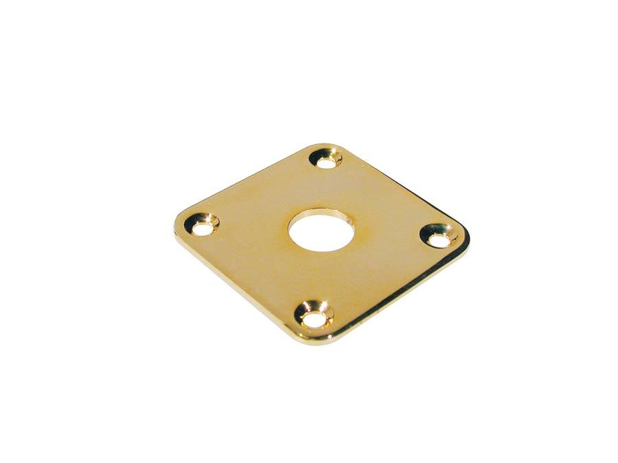 Boston jack plate, square, flat metal, gold