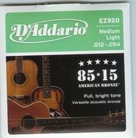 Daddario EZ920 Medium  Light American Bronze
