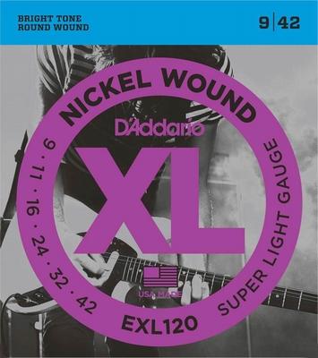 D'Addario XL Nickel Round Wound EXL-120