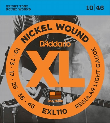 D'Addario XL Nickel Round Wound EXL-110