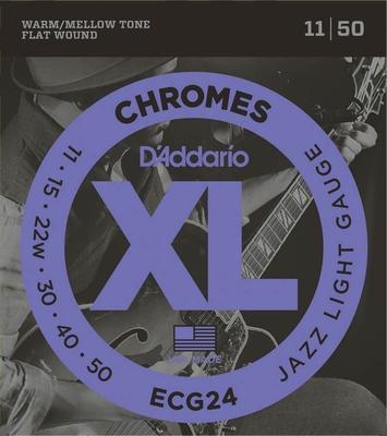 DAddario XL Chromes ECG-24 flatwound snarenset
