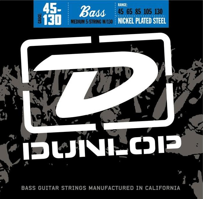 Dunlop bassnaren nickel round wound 45-130