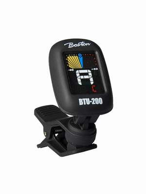 Boston BTU-200 chromatic clip tuner, with multi colc disp