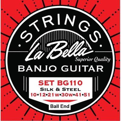 LA Bella Acoustic Folk  6-string banjo L-BG110-BE