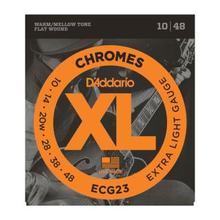 DAddario XL Chromes ECG23 flatwound snarenset.