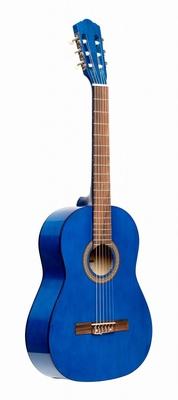 Stagg 3/4 klassieke gitaar met lindehouten top, blauw
