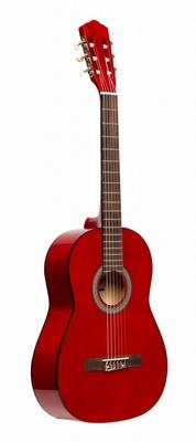 Stagg 3/4  klassieke gitaar met lindehouten top, rood