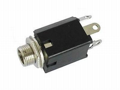 Jack, input, mono, w/switch 6,3 mm.