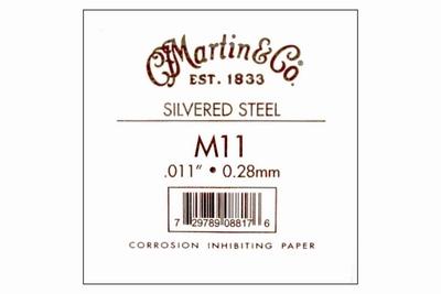 Martin 011 plain steel nickel losse snaar