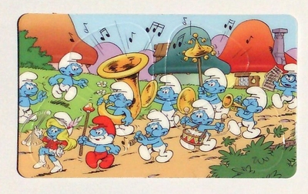 Pickcard plectrum kaart Smurf