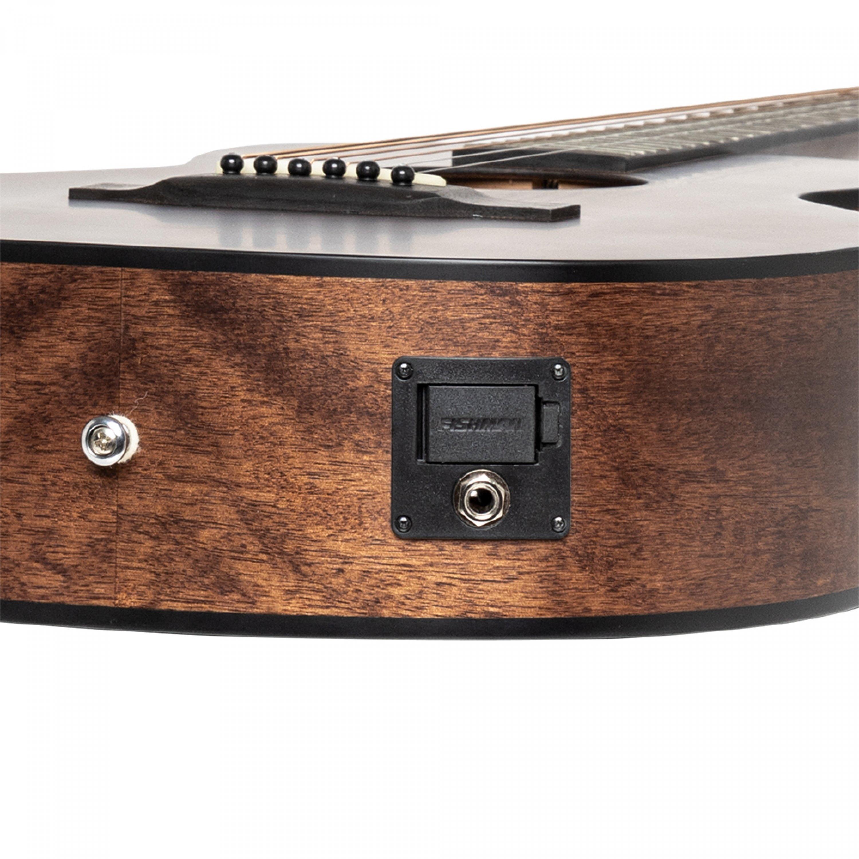 J.N Acoustic-electric parlor guitar