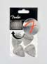 pickpack (4 picks), 351 shape, stainless steel, thin