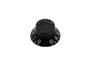 Boston bell knob, lefty, transparent black