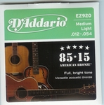 Daddario EZ920 Medium  Light American Bronze