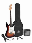 SX 3/4 elektrisch gitaar pakket 3tone sunburst