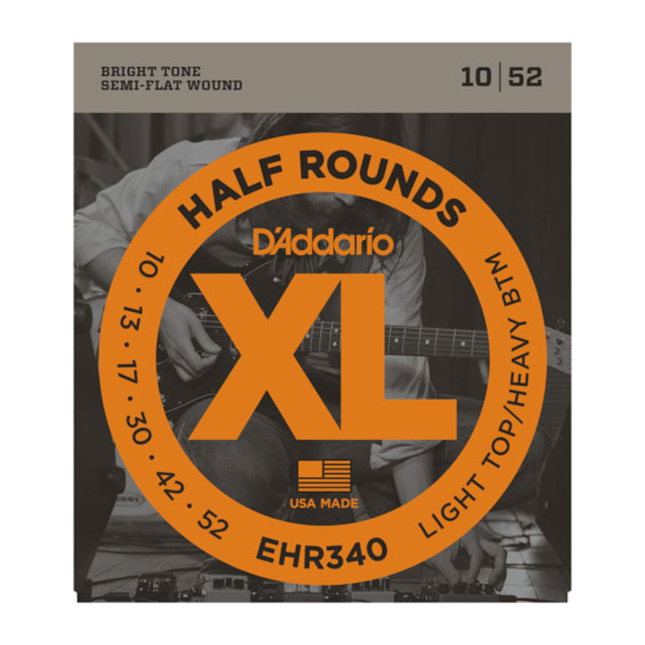 DAddario EHR340 Half Round electric