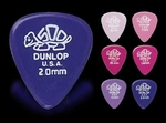 Dunlop plectrum Delrin 2,0 mm.