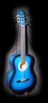 Gomez 001 klassieke gitaar Blue sunburst