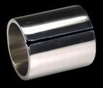 metal bottleneck, 21x25x28 mm., chrome