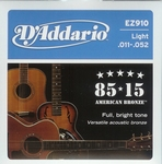 Daddario EZ910 Light American Bronze
