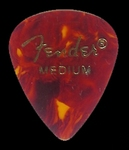 Fender Medium gauge picks, tortoise, teardrop model